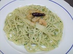 スパゲッティーニンニクと赤唐辛子