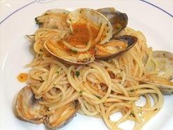 大粒アサリのスパゲッティートマト風味