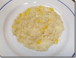 燻製チーズスカモルツァとトウモロコシのリゾット